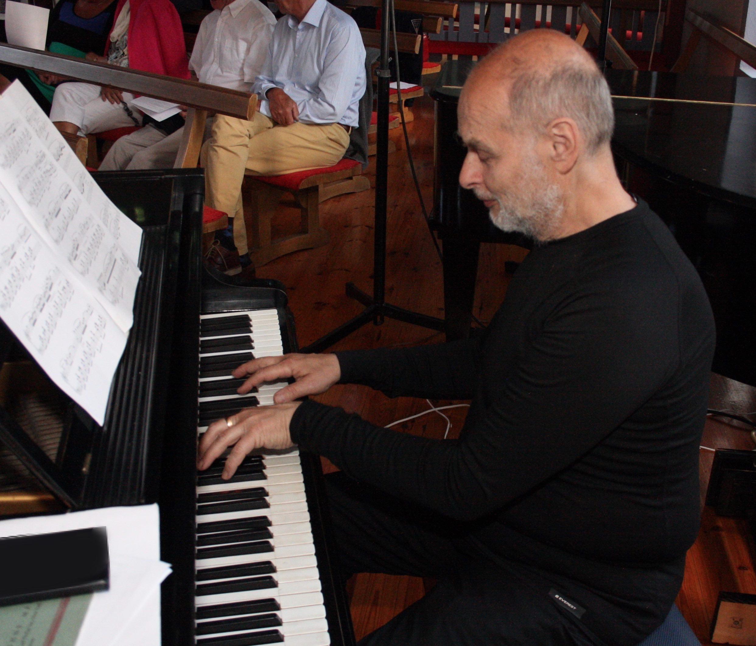 Solveig Andersson och Jacob Moscovicz spelade fransk musik 15 juli 2017